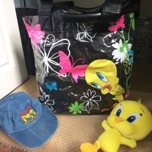 Looney Tunes Tweety Bird Kids Cap+Tote + Bird